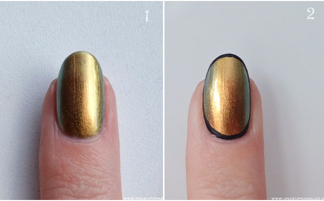 Nail art tutorial Ciate Oil Slick 3