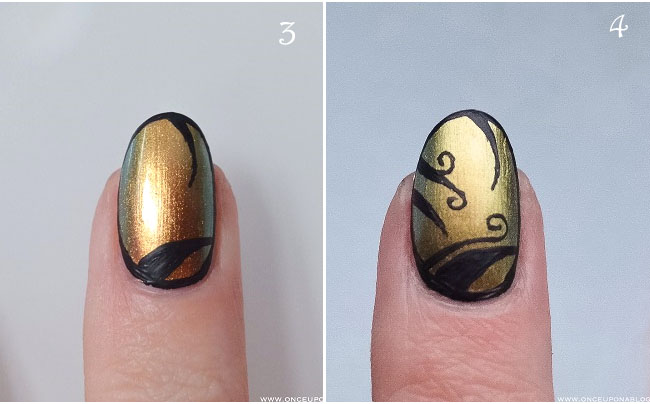 Nail art tutorial Ciate Oil Slick 4
