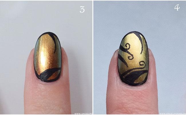Nail art tutorial Ciate Oil Slick 4