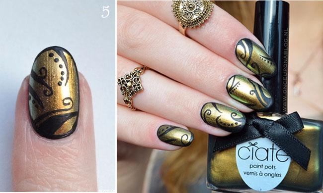 Nail art tutorial Ciate Oil Slick 5
